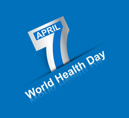 Beautiful text 7 April world health day creative background vector Illustration