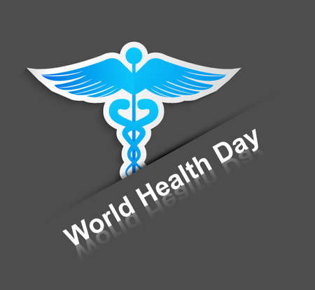 Beautiful World health day caduceus medical symbol creative colorful background vector Vector