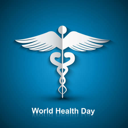 Medical background with Caduceus medical symbol world health day vector design Stock Vector - 27156183