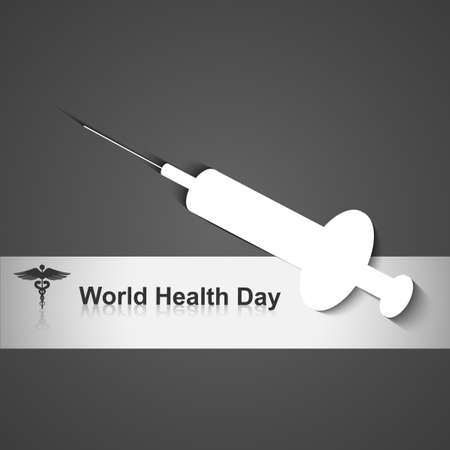 World heath day concept with medical symbol on grey colorful vector illustration Stock Vector - 27156191
