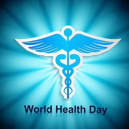 World health day caduceus medical symbol beautiful vector background Stock Vector - 27156192