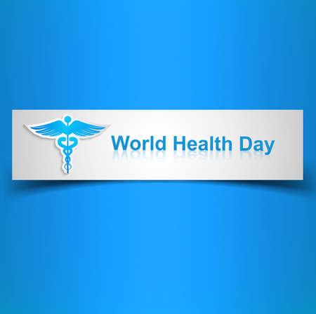 Caduceus medical symbol beautiful World health day colorful background illustration Stock Vector - 27156193