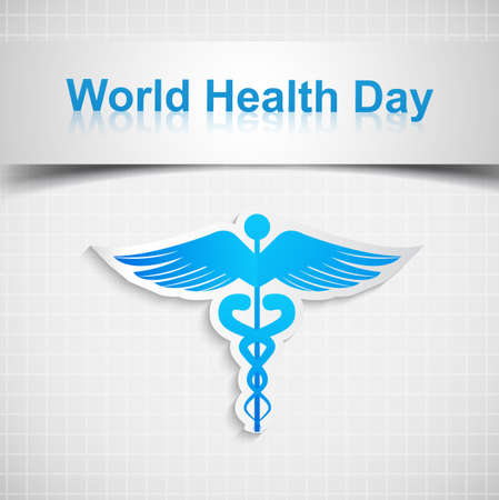 Abstract world health day medical background with caduceus medical symbol vector Stock Vector - 27156203
