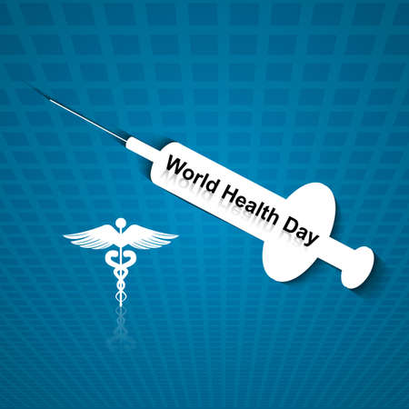 Vector beautiful world heath day medical colorful background Stock Vector - 27157211