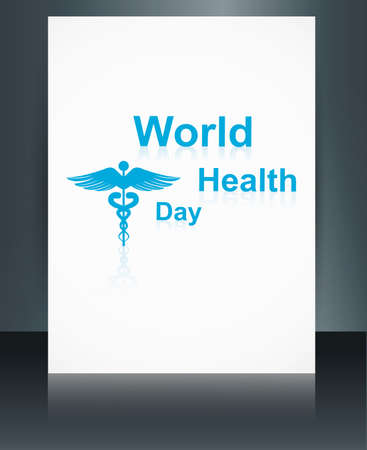 Vector concept medical background brochure on caduceus medical symbol reflection world health day template illustration Stock Vector - 27157221