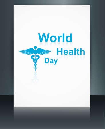 Vector concept medical background brochure on caduceus medical symbol reflection world health day template illustration Stock Vector - 27157221