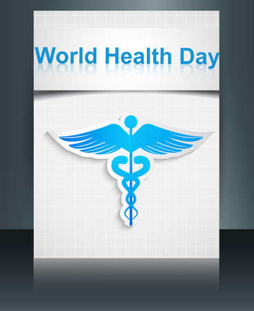 World health day template medical background brochure reflection colorful vector Stock Vector - 27157224