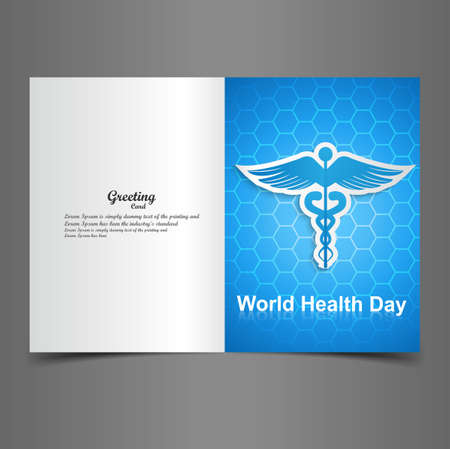 World health day for greeting card Caduceus medical symbol presentation vector Stock Vector - 27157598