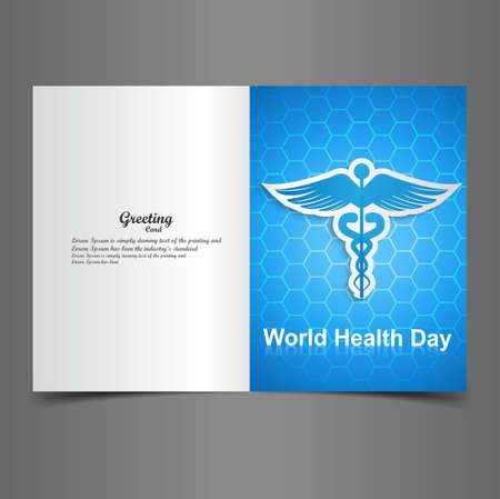 World health day for greeting card Caduceus medical symbol presentation vector Stock Vector - 27157598