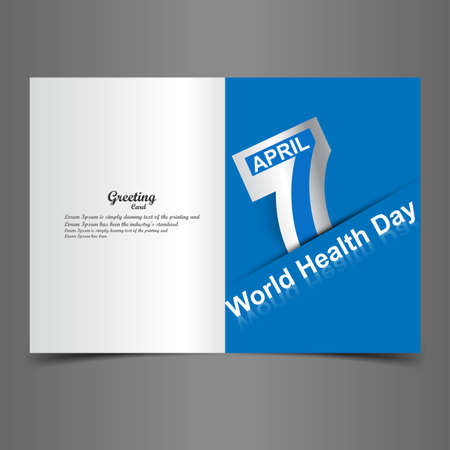 World health day beautiful text 7 April with presentation greeting card vector illustration Vector