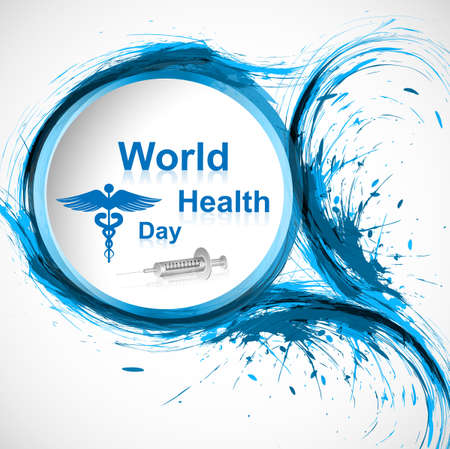 Beautiful grunge stylish concept medical colorful background world health day vector Stock Vector - 27157606