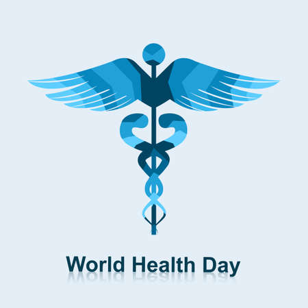 Caduceus medical symbol beautiful world health day vector illustration Stock Vector - 27154739