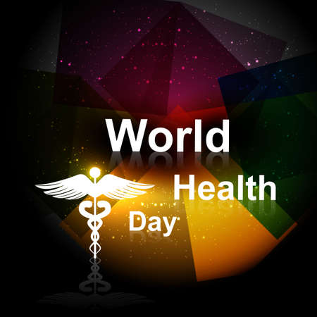 Beautiful Vector concept medical bright colorful world health day background  Stock Vector - 27154741