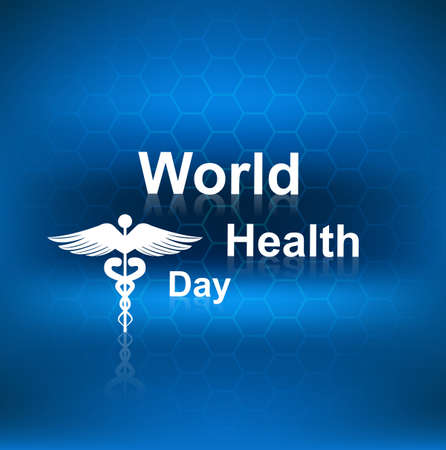 Beautiful blue colorful concept medical background world health day vector design Stock Vector - 27154744