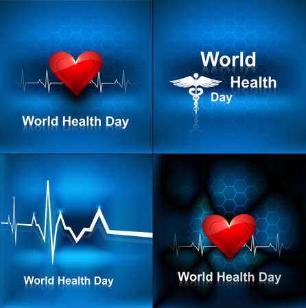 World health day collection set background concept with medical symbol vector illustration Stock Vector - 27154585