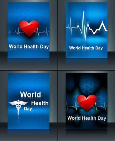 World health day beautiful presentation brochure collection set template concept with medical symbol vector design Stock Vector - 27154584