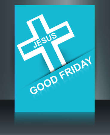 almighty: Beautiful card colorful religious background for good friday brochure template design  Illustration