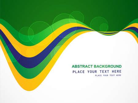 브라질 국기 개념 크리 에이 티브 비즈니스 다채로운 파도 배경 스톡 콘텐츠 - 28031326