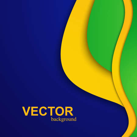 Beautiful wave Brazil flag colors concept colorful background vector Illustration