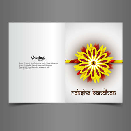 bahan: Greeting card rakhi vector Indian festival colorful design