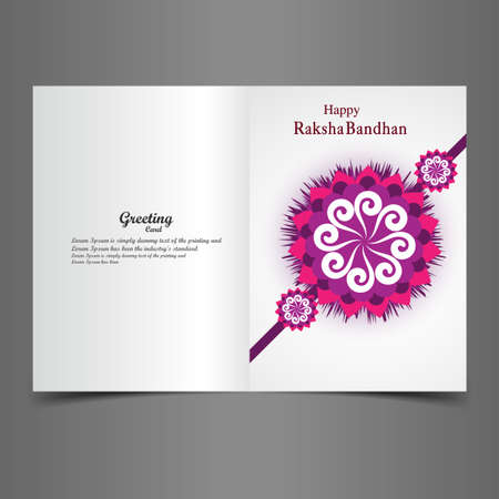 raksha: Raksha Bandhan Indian festival greeting card background illustration design Illustration