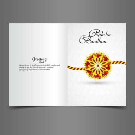 mani legate: Bella cartolina d'auguri alla moda Rakhi colorato disegno vettoriale Vettoriali