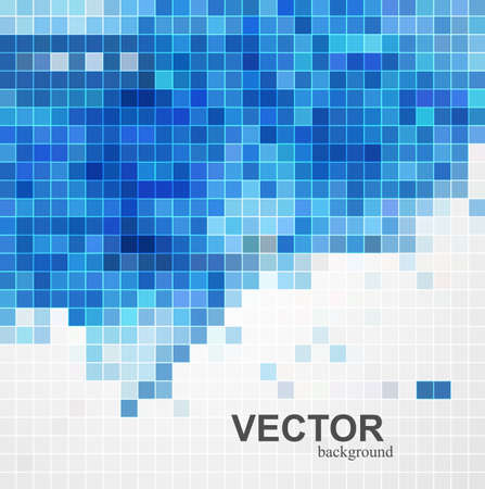 whit: abstract blue colorful mosaic background design illustration