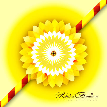 bahan: Raksha bandhan for stylish rakhi colorful card design background
