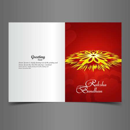 bahan: Beautiful Presentation Raksha Bandhan greeting card background colorful vector