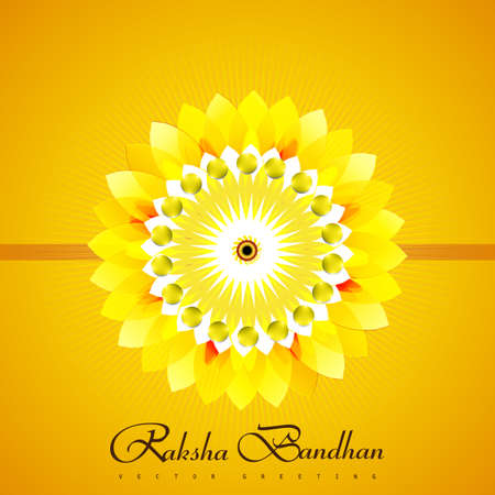 bahan: Beautiful Raksha Bandhan bright colorful card background vector