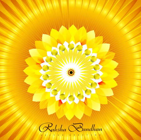 bahan: Shiny vector rakhi colorful beautiful background