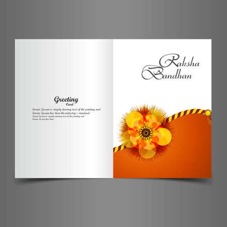 bahan: Raksha Bandhan greeting card beautiful presentation colorful vector