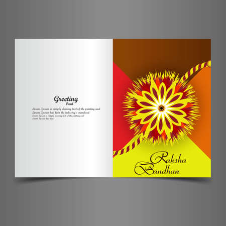 raksha: Raksha Bandhan carta artistica di auguri sfondo colorato creativo Vettoriali