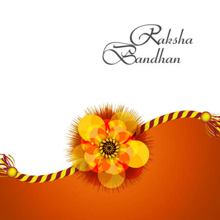 raksha: Beautiful Raksha Bandhan background colorful card design