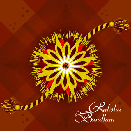 bahan: Vector Indian festival Raksha Bandhan rakhi background