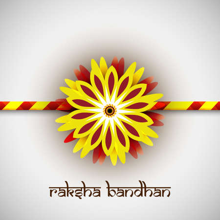 bahan: Beautiful rakhi vector Indian festival Raksha Bandhan card colorful vector Illustration