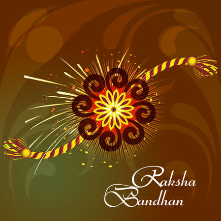 bahan: Raksha Bandhan bright colorful rakhi indian festival background vector