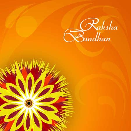 Vector illustration Indian festival Raksha Bandhan rakhi colorful celebration design Vector