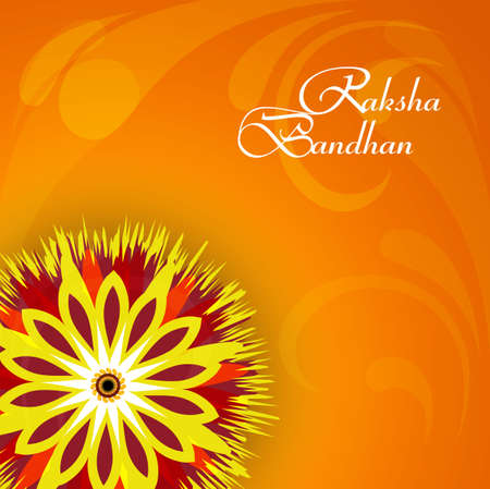Vector illustration Indian festival Raksha Bandhan rakhi colorful celebration design