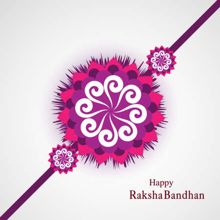 Raksha Bandhan Indian festival background  illustration vector Illustration