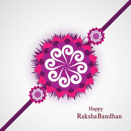 Raksha Bandhan Indian festival background  illustration vector Illustration