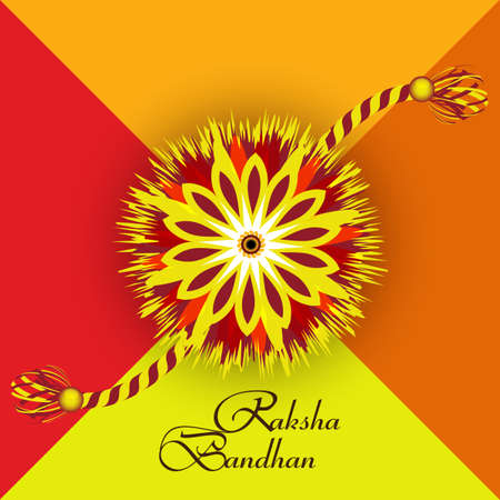 bahan: Raksha Bandhan artistic colorful card creative design Illustration