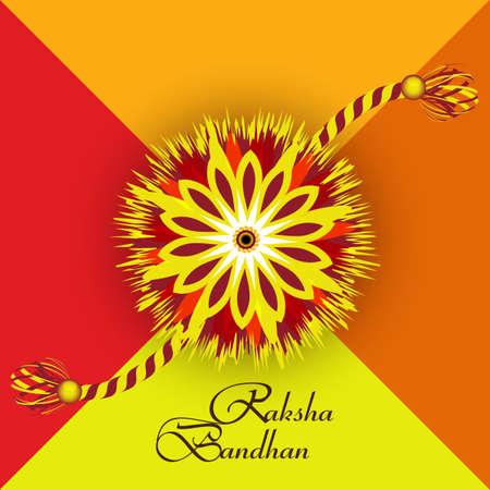 raksha: Raksha Bandhan artistico colorful creativo Vettoriali