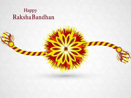 bahan: Beautiful stylish rakhi design vector
