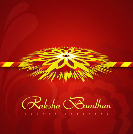 Rakhi Indian festival Raksha Bandhan colorul vector illustration