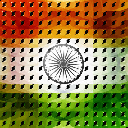 15th of August beautiful indian flag texture colorful illustration background vector Vector