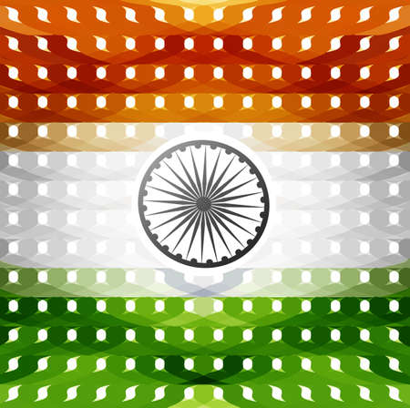 15th of August indian flag texture colorful illustration vector Vector