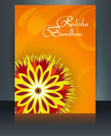 Beautiful brochure template Raksha Bandhan vector design Vector