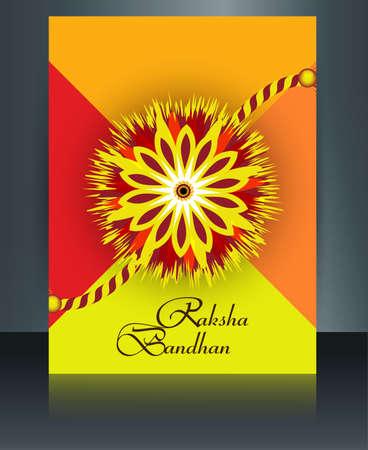 Brochure Raksha Bandhan template artistic colorful card design Vector