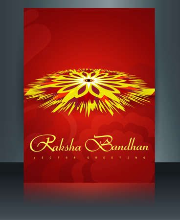 bahan: Rakhi Indian template reflection festival Raksha Bandhan brochure colorul vector